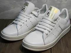 Кеды осень женские Adidas Stan Smith White-R A14w15wg