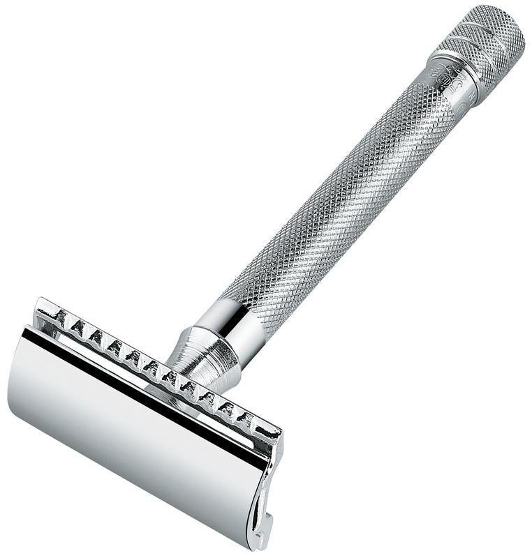 Станок Т- образный для бритья MERKUR 9023001 хромированный с удлиненной ручкой