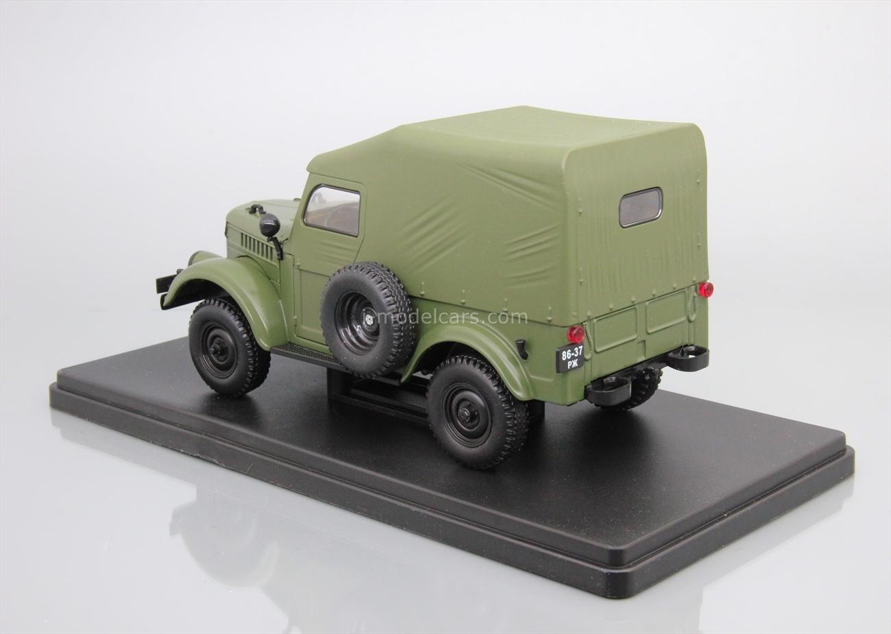 GAZ-69 khaki 1:24 Legendary Soviet cars Hachette #9