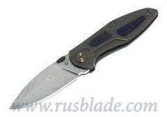 Cheburkov Toucan Custom Damascus Folding Knife