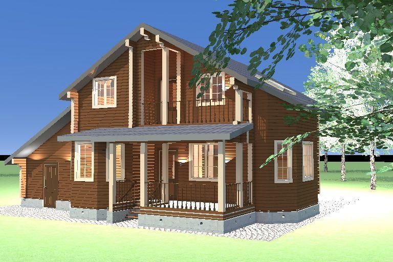 """Строительство домов из бруса и бревна Дом из бруса """"МД-Б-189"""" 189 кв.м. 4_8.jpg"""