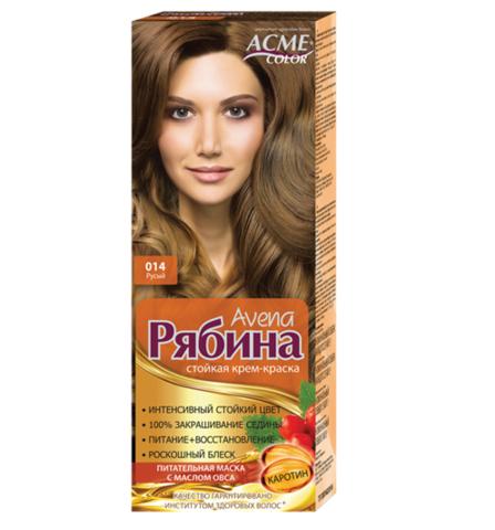 Рябина Avena Крем-краска для волос тон №014 русый