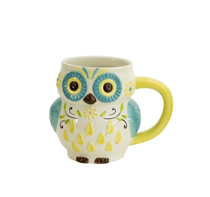 Кружки Кружка Boston Warehouse Floral Owl синяя kruzhka-boston-warehouse-floral-owl-sinyaya-ssha.jpg