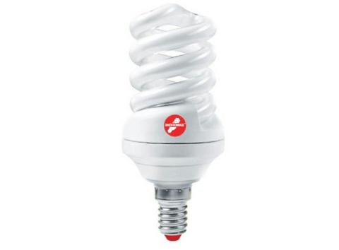 Лампа люминесцентная компакт. SPC 15Вт E27 2700К T2 ЭКОНОМКА LKsmT2SPC15wE2727eco