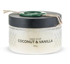 Аргановый скраб солевой кокос-ваниль, Huilargan