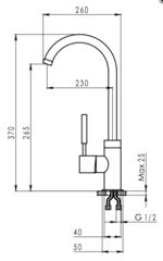Смеситель Granula 2125 Песок схема