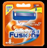 Сменные лезвия Gillette Fusion 8 шт из Японии