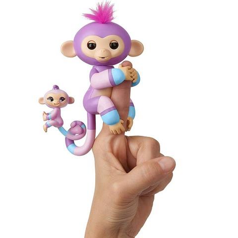 Фингерлингс Обезьянка с малышкой Вайлет и Хоуп