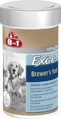 8 in 1 Excel Пивные дрожжи для кошек и собак для шерсти 140таб