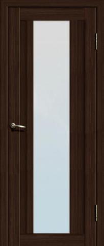 Дверь La Stella 205, стекло матовое, цвет дуб мокко, остекленная