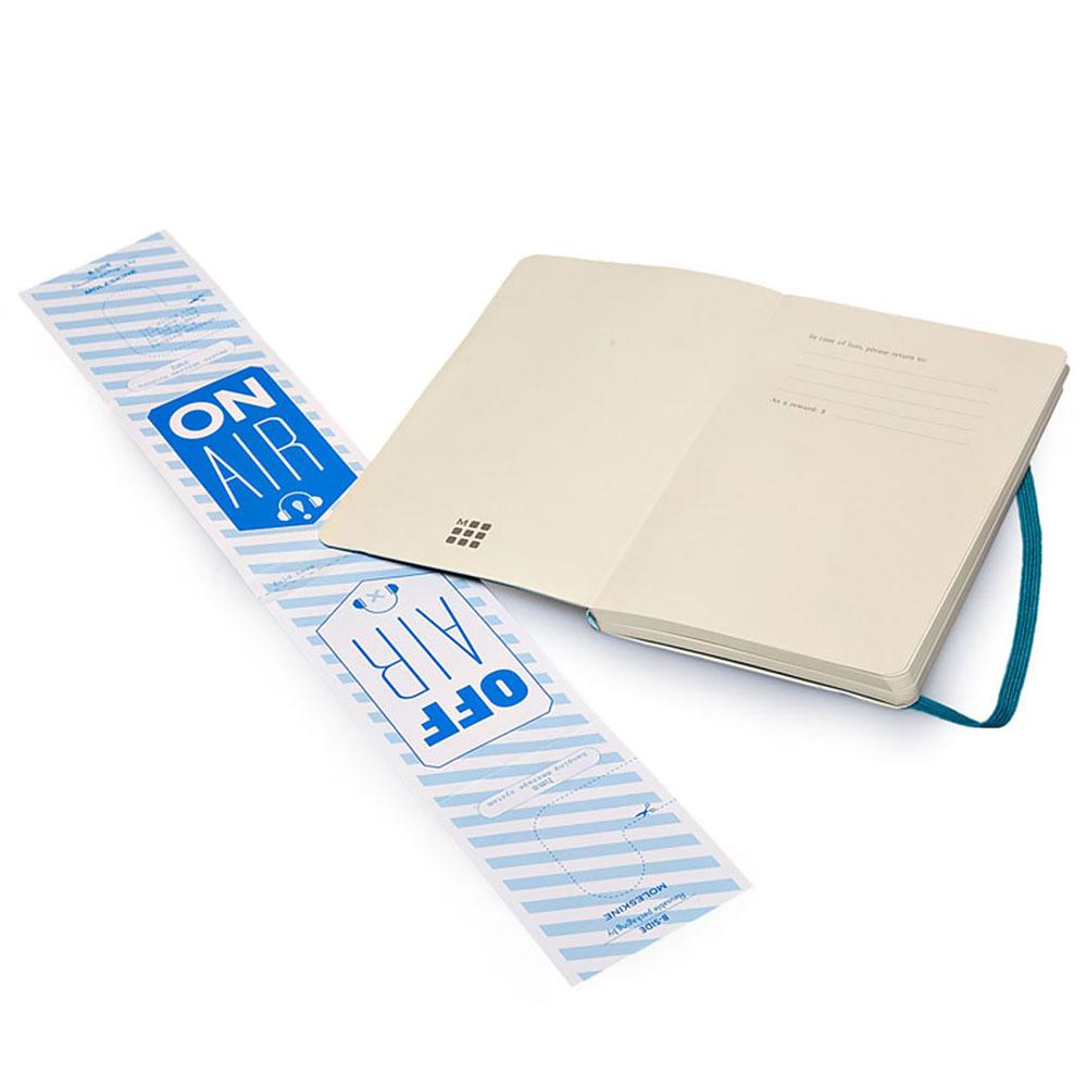 Блокнот Moleskine Classic Soft Pocket, цвет бирюзовый, без разлиновки