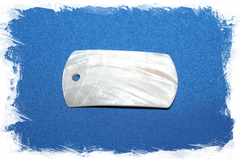 Перламутровый кулон с отверстием для украшений
