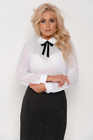 Хит сезона! Офисная блузка с бантом. Рукав длинный на манжете.