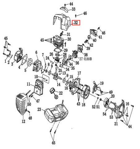 Кожух цилиндра  для лодочного мотора T2 SEA-PRO