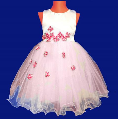 Платье  для малышек с розовыми цветами