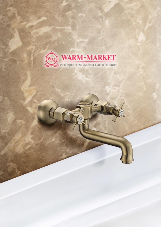 Elg Bronze 016 - бронзовый смеситель для кухни с длинным изливом