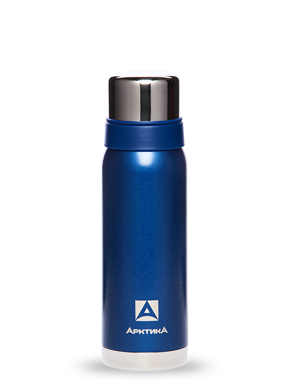 Термос Арктика (0,75 л.) с узким горлом американский дизайн, синий