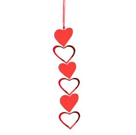 Подвеска сердце пластик 37см арт. ч20443