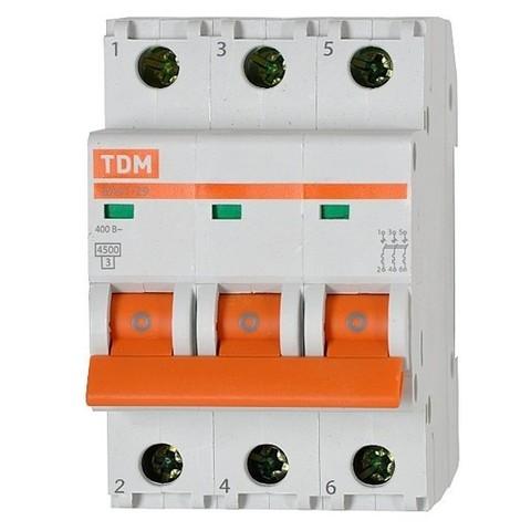 Автоматический выключатель (автомат) 3Р 63А ВА 47-63 TDM