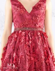 Платье средней длины в цвете Burgundy Mac Duggal 48028