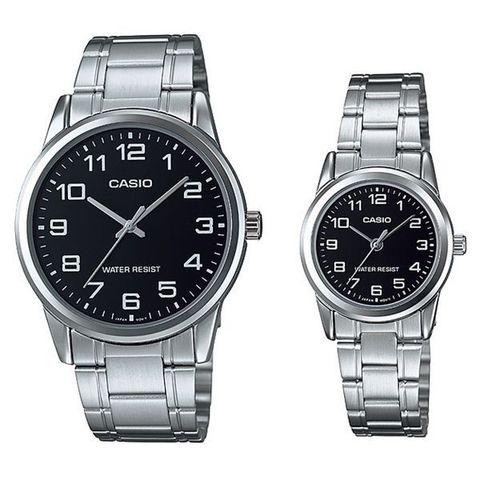 Купить Парные часы Casio Standard: MTP-V001D-1BUDF и LTP-V001D-1BUDF по доступной цене