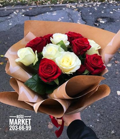 11 роз в оформлении #14571