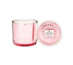 Ароматическая свеча Voluspa Просекко Розе в большом стеклянном подсвечнике с крышкой