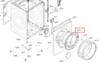 Обрамление люка для стиральной машины Bosch (Бош) внутреннее - 11005098