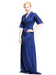 P302-8 платье синее