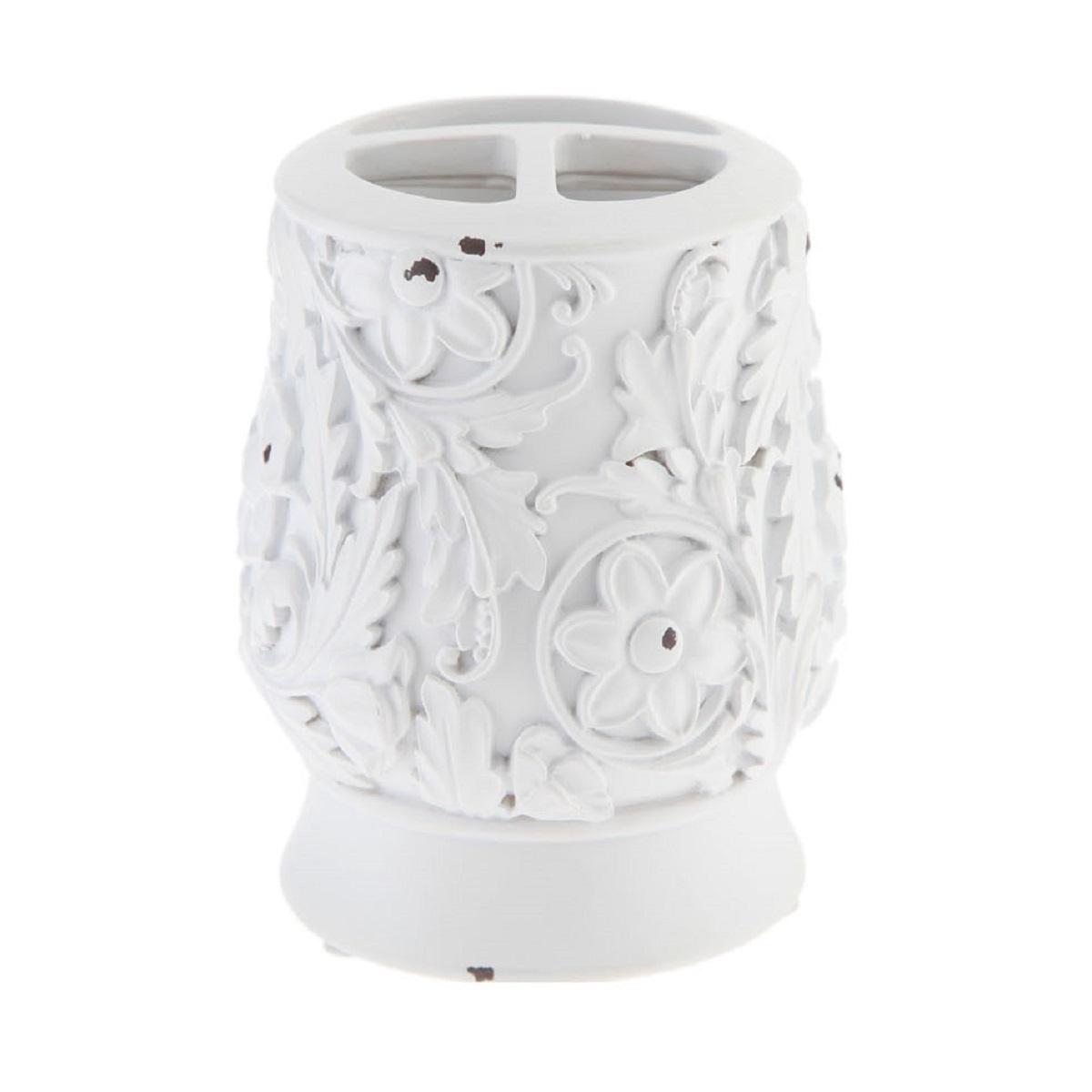 Стаканы для зубных щеток Стакан для зубных щеток Decor Vintage White stakan-dlya-zubnyh-schetok-decor-vintage-white-kitay.JPG