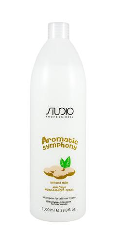 Шампунь для всех типов волос Молочко миндального ореха,Kapous Aromatic,1000 мл