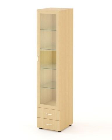 Шкаф-пенал АЯС-02 дуб беленый