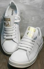 Кеды на осень женские Adidas Stan Smith White-R A14w15wg