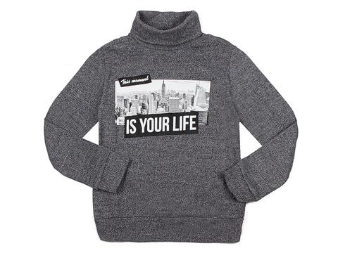 BSW001243 свитер детский, серый меланж