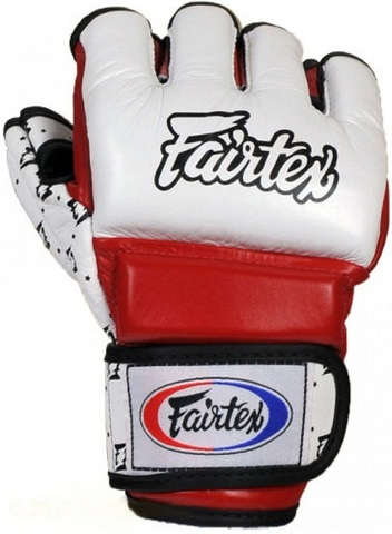 Перчатки MMA Fairtex Sparring Gloves FGV17 White/Red