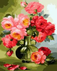 Красные розы- раскраски по номерам