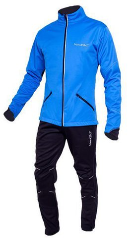Детский утеплённый лыжный костюм Nordski Premium Blue-black