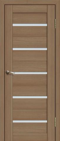 Дверь La Stella 206, стекло матовое, цвет тиковое дерево, остекленная