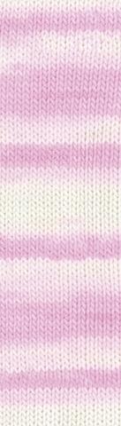 Пряжа Alize Baby Best Batik 6660 розово-белый