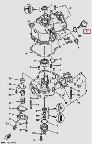 Щуп-пробка уровня масла для лодочного мотора F5 Sea-PRO(4-37)