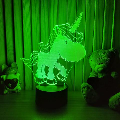 3D ночник Единорожка