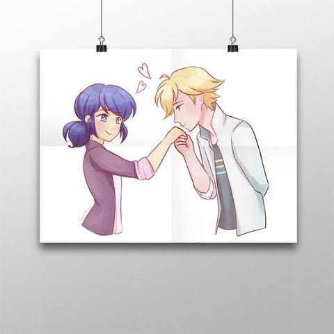 Плакат с Адрианом и Маринетт