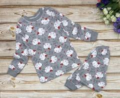 23D-4 пижама детская, серая