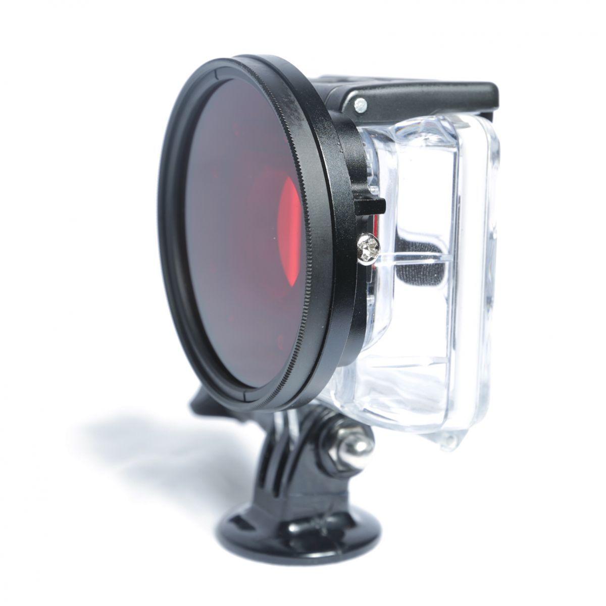 Рамка-адаптер для фильтров FUJIMI GP FRRF3 в комплекте с красным фильтром, диаметром 58 мм