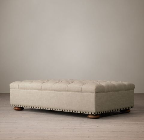 Churchill Coffee Ottoman With Nailheads