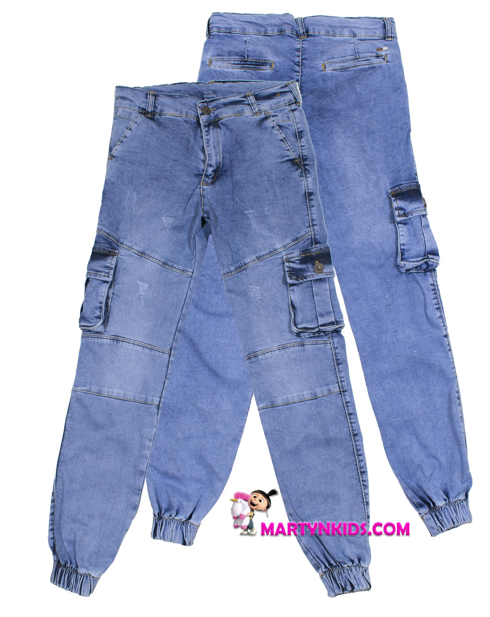 1300 джинсы джоггеры накладной карман