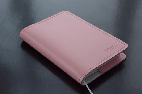 Гламурненький розовый кожаный ежедневник в подарок.