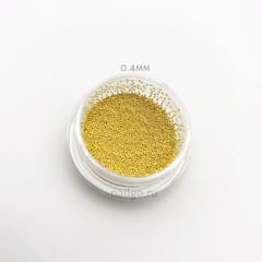 Бульонки золото металлические 0,4мм
