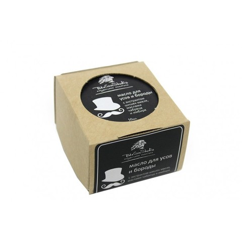 Масло твердое для усов и бороды с экстрактом шишек хмеля, маслами чабреца и имбиря 50мл (TakeCareStudio)