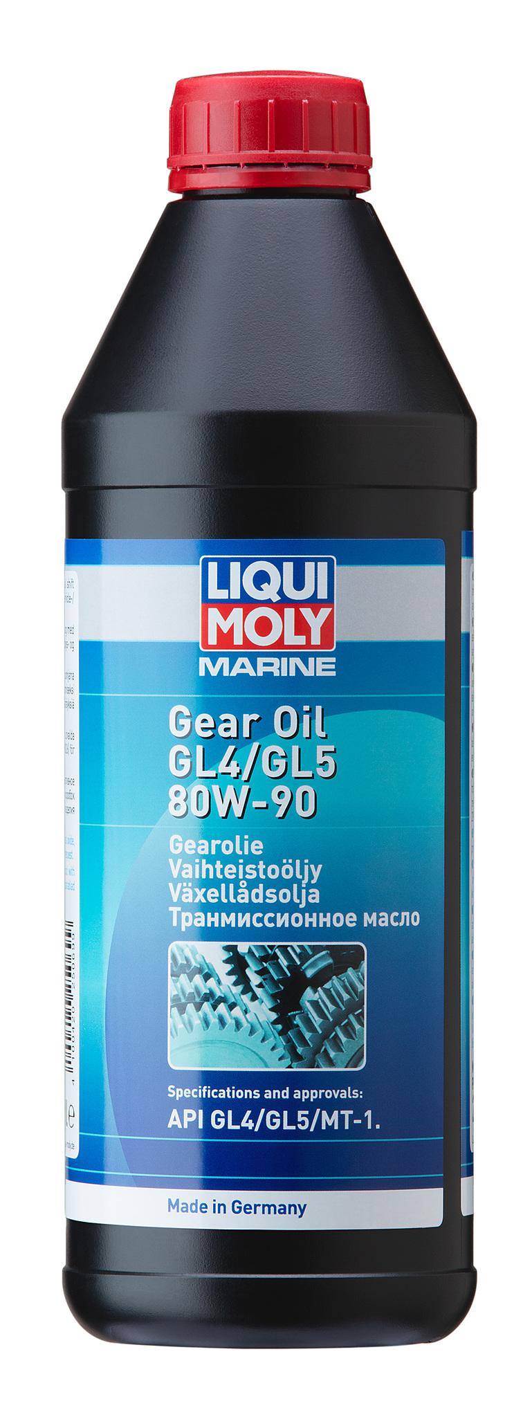 Liqui Moly Marine Gear Oil 80W-90 (1л) - Минеральное трансмиссионное масло для водной техники